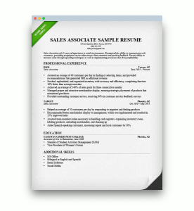 picture of a Chronological resume